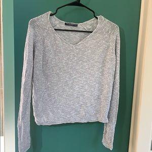 Brandy Melville long sleeve sweater grey OS
